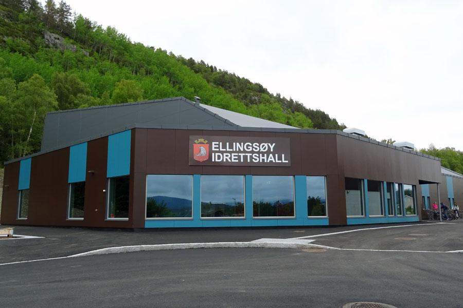 Ellingsøy idrettshall fasade